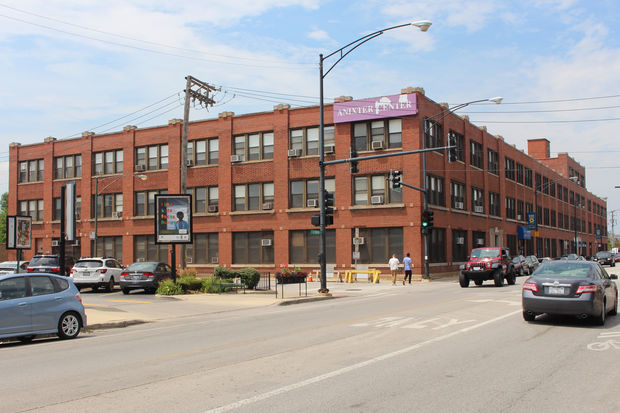 The Anixter Center building at 2032 N. Clybourn Ave. is on the market.