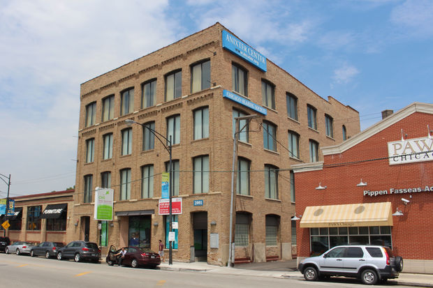 The R2 development company has a contract to buy the Anixter Center building at 2001 N. Clybourn Ave.