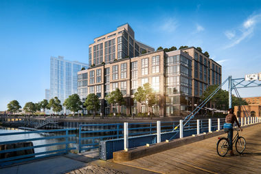 The 12-story building includes 270 luxury apartments between Carroll and First streets in Gowanus.