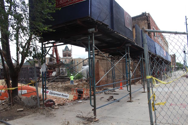 Harold's Chicken Shack No. 2 was torn down Monday after it caught fire on July 15.