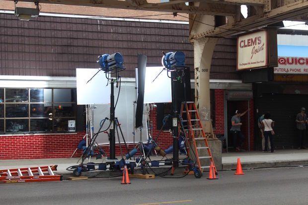 The show will be shooting at Daley's through at least Tuesday.