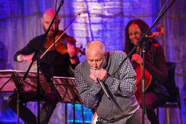Corky Siegel, an accomplished blues harmonica player, will perform alongside a classical string quartet at 7:30 p.m. Saturday at the Beverly Arts Center.
