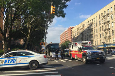 A man was fatally struck by a bus in East Harlem on Wednesday afternoon, officials and witnesses said.