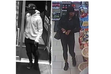 This man is suspected of holding up eight stores over 10 days this month, with the woman helping in two of the robberies, according to police.
