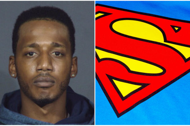 Deshawn Owens, 23, has a Superman symbol tattooed across his chest, police said.