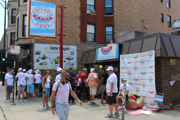 The Chicago Dogs, a new minor-league baseball team, took over the Wiener's Circle Friday.