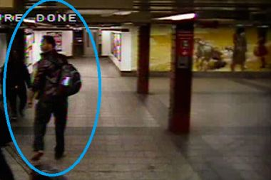 Police are searching for a man they say groped a woman inside a hallway at Penn Station.