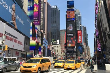 A tourist from Utah was arrested for assault in Times Square Monday morning