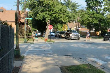 Parents have spent years lobbying local officials for safety improvements at the busy intersection of Austin and Bryn Mawr avenues.