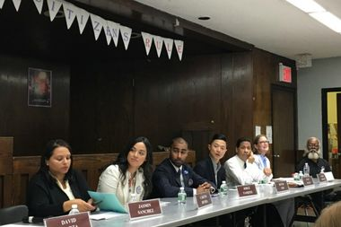 Candidates for City Council District 2 answered questions from young constituents at a forum Monday night.