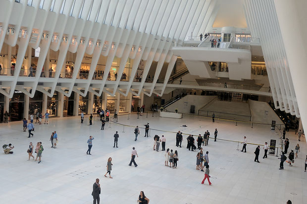 A man was seriously injured after he jumped from a balcony at the World Trade Center Oculus Tuesday afternoon.
