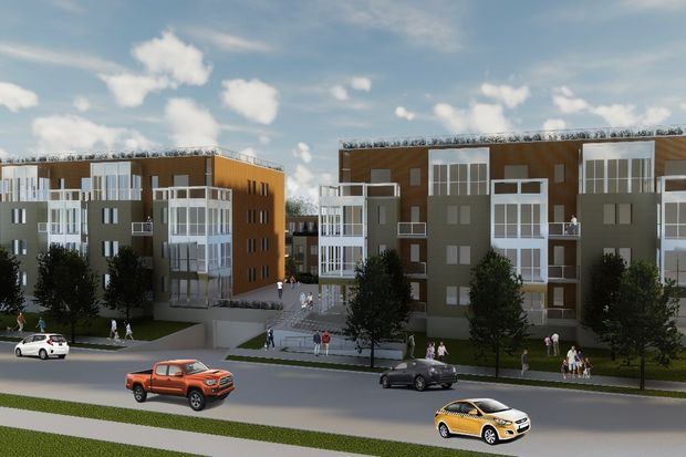 The project from Steve Sgouras would bring two 25-unit buildings and 11 townhomes to 4608-4618 North Malden Street, but would require a zoning change.