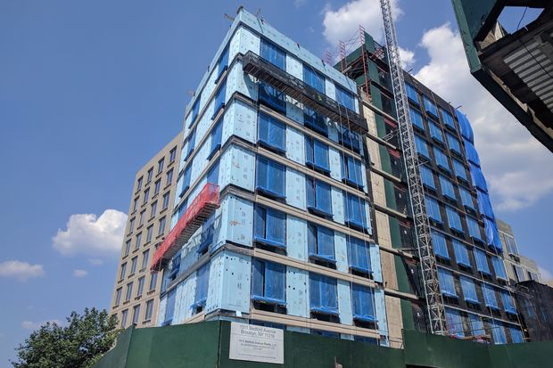 This 114-unit building is under construction on the site of the former Charity Neighborhood Baptist Church building on Bedford Avenue and Lincoln Place.