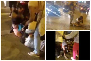 Screenshot from a street fight during Wicker Park Fest weekend.