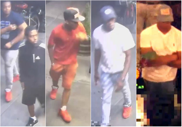 Police say these men are wanted for stealing money and money cards from customers and employees of several upper Manhattan businesses from March through June.