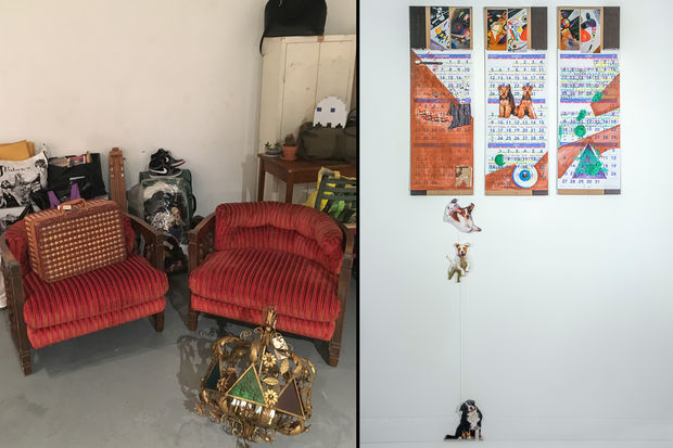 Left: Some Of The Furniture And Other Items That Will Be For Sale. Right