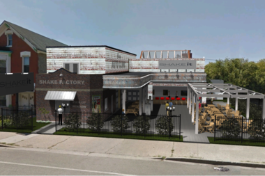 A rendering of shake focused restaurant proposed for 820 N. Damen Ave.