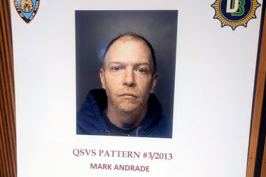 Mark Andrade, 45, of Richmond Hill, was arrested Wednesday after investigators matched his DNA from another arrest in Nassau County, according to Chief of Detectives Robert Boyce.