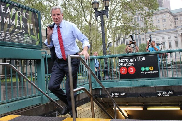 Mayor Bill de Blasio is expected to propose a tax on wealthy New Yorkers to help foot the bill for subway repairs.