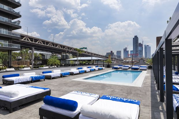 Profundo Pool Club opened last week on a third-floor rooftop at the Ravel Hotel.