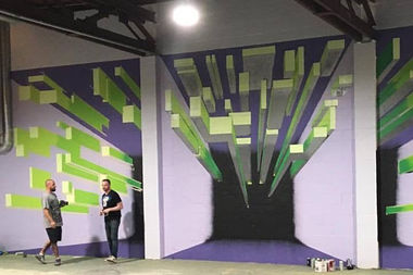 Runn Chicago has already put in murals to enliven its spinning-style running classes.