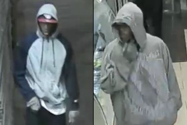 Police are trying to identify these two men who they say robbed a Franklin Avenue deli in Crown Heights on Monday.