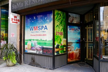 W Men Spa at 216 W. 30th St., between Seventh and Eighth avenues.