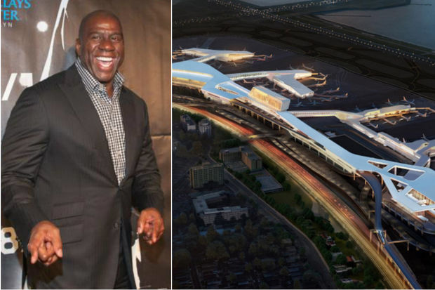 The former NBA star's investment firmsigned on with the public-private partnership rebuilding LaGuardia