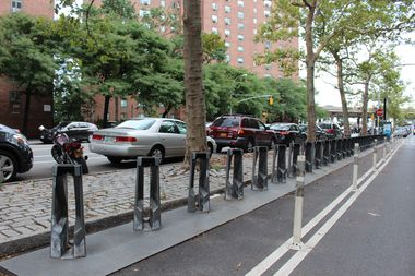 The Citi Bike dock at the 20th Street Loop sat empty Tuesday afternoon.