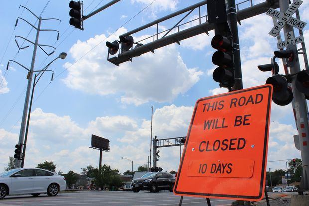 The rail crossing used by Metra at 99th Street and Vincennes Avenue in Washington Heights will close for 10 days beginning Wednesday, Metra officials said.
