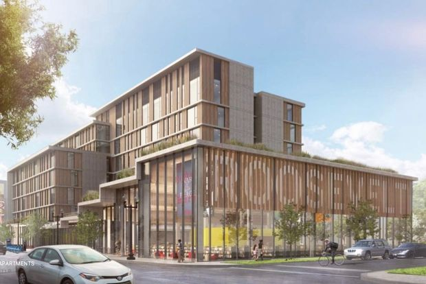 During a community meeting last week, developers unveiled new drafts of renderings for the Roosevelt Library and six stories of CHA mixed-income housing above it.