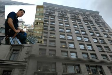 Eduardo Monge, 56, was killed Monday when he fell from the 12th floor of a Madison Avenue building.