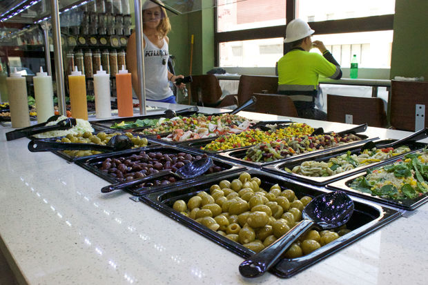 Olives Organic Market debuted Wednesday at 4237 27th St., selling grocery items and prepared foods.