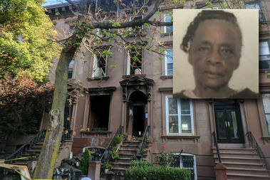Gertrude Duncan, inset, was found dead and another woman burned her hands, police said.