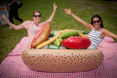 You can drag yourself through the garden at the Chicago Hot Dog Fest.