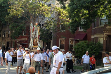 The St. Rocco Society will hold its annual parade and celebration at 11:30 a.m. Sunday at St. Therese Church.