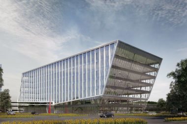 Developers filed plans to build the office building Corporate Commons Three which will have a wine-producing vineyard, a rooftop garden and more.
