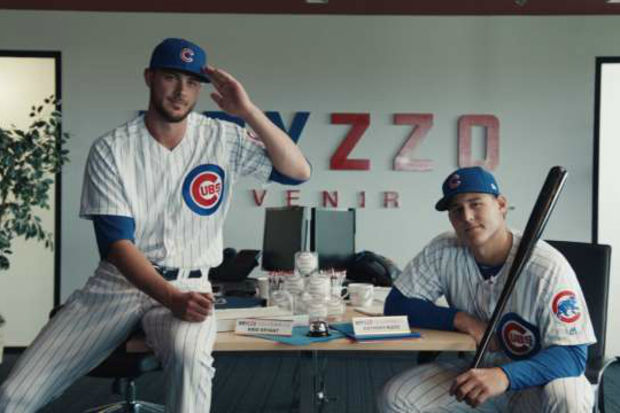 Cubs stars Kris Bryant (left) and Anthony Rizzo will sign autographs Saturday at the Radisson Blue Aqua hotel.