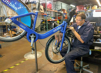 City Bike's new Gowanus facility is the base of its field bike mechanics and station technicians.