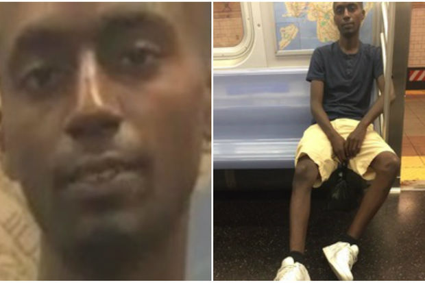 He followed her onto the Q train before grabbing her in Herald Square, police said.