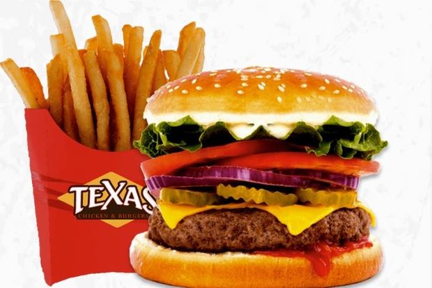 Texas Cheese Burger at Texas Chicken and Burgers.