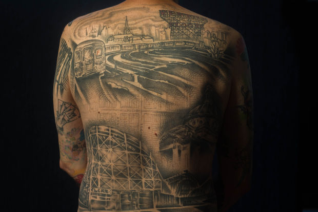 From the Brooklyn Bridge to the Staten Island Ferry, New Yorkers have adorned their bodies with city landmarks to show their hometown pride.