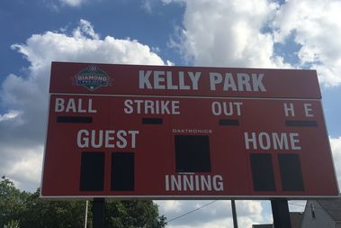 The Chicago Cubs donated a new score board and other upgrades to the field facilities at Kelly Park, 2725 W. 41st St.