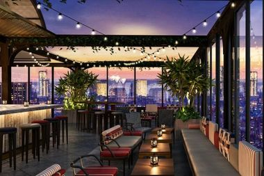 A rendering of the Magic Hour-Rooftop Bar & Lounge.