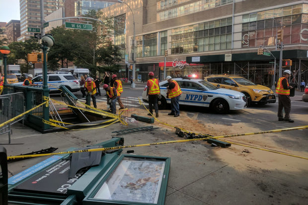 The crash occurred at Broadway and West 66th Street, an FDNY spokeswoman said.