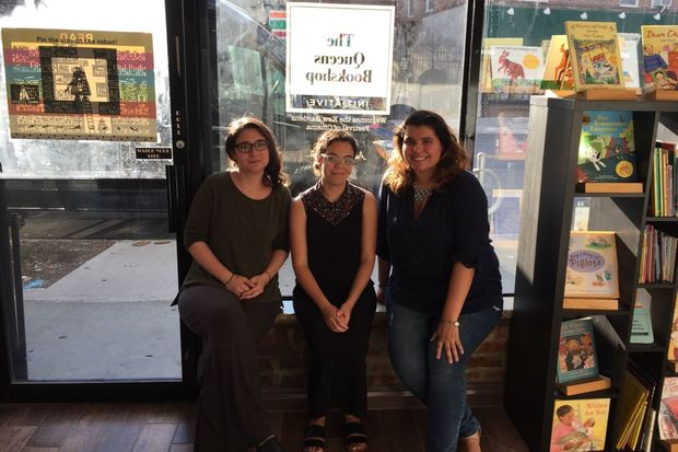 Holly Nikodem, Vina Castillo and Natalie Noboa inside their new bookstore in Kew Gardens.