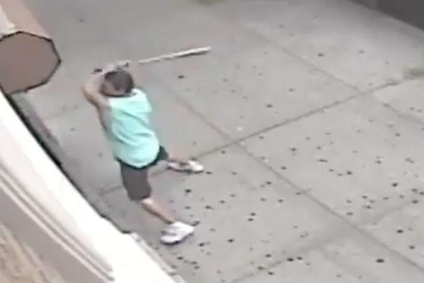 Video Man With Metal Bat Wallops Williamsburg Church Doors