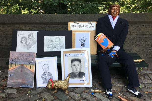 Artist Alex Gardegainstalled