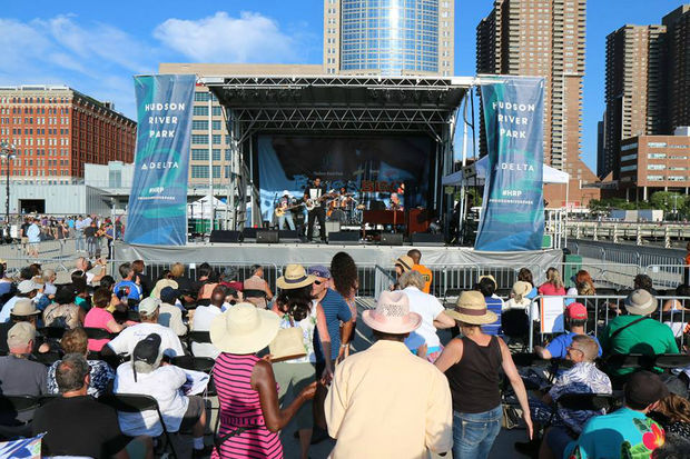 Hudson River Park's Blues BBQ Festival is back for its 18th year, with food from restaurants including Dinosaur Bar-B-Que and Mighty Quinn's BBQ and blues performances.
