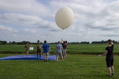 A group from the South Side Hackerspace in Bridgeport will launch a balloon that will livestream the eclipse from space.